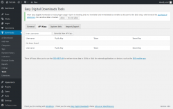 Page screenshot: Downloads → Tools → API Keys