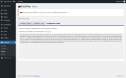 Page screenshot: EasyMap → Export → Configuration, JSON