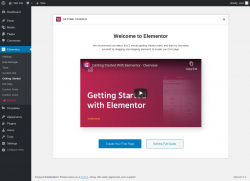 Page screenshot: Elementor → Getting Started