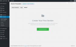 Page screenshot: Templates → Add New → Section