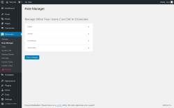 Page screenshot: Elementor → Role Manager