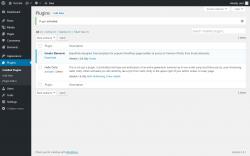 Page screenshot: Plugins ‹ Test site — WordPress