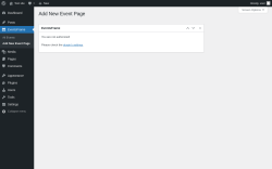 Page screenshot: EventsFrame → Add New Event Page