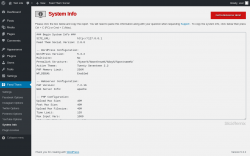 Page screenshot: Feed Them → System Info