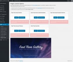 Page screenshot: Feed Them → Plugin License