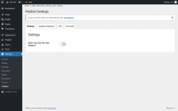 Page screenshot: Settings → FileBird