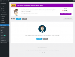 Page screenshot: Forminator → Polls