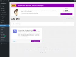 Page screenshot: Forminator → Add-ons New