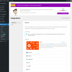 Page screenshot: Forminator → Integrations