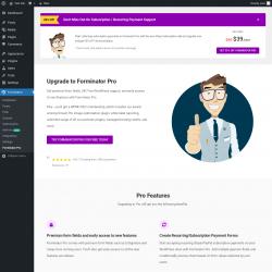 Page screenshot: Forminator → Forminator Pro