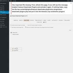 Page screenshot: Freesoul Deactivate Plugins