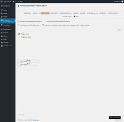 Page screenshot: Disable plugins   Post Types