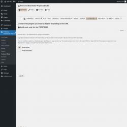 Page screenshot: Freesoul Deactivate Plugins → Custom URLs