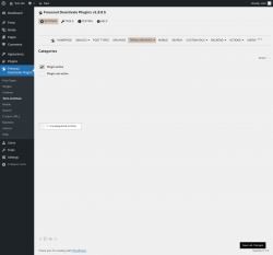 Page screenshot: Freesoul Deactivate Plugins → Term Archives
