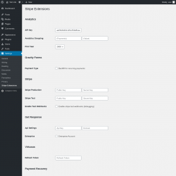 Page screenshot: Settings → Stripe Extensions