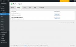 Page screenshot: Donations → Tools → Import