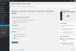 Page screenshot: Google Analytics → Tracking Code → Integration