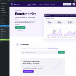 Page screenshot: ExactMetrics → Settings