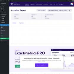 Page screenshot: Dashboard → ExactMetrics