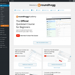 Page screenshot: Groundhogg