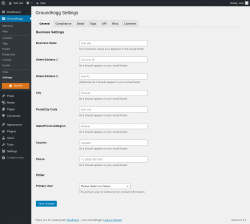 Page screenshot: Groundhogg → Settings