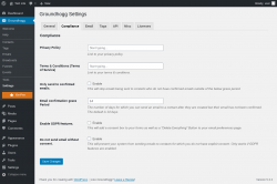 Page screenshot: Groundhogg → Settings → Compliance