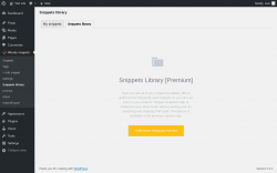 Page screenshot: Woody snippets → Snippets library →  		                Snippets library