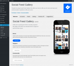 Page screenshot: Social Feed Gallery