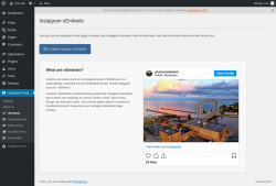 Page screenshot: Instagram Feed → oEmbeds