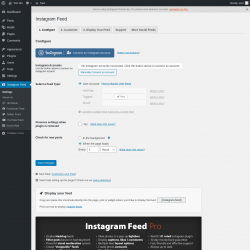 Page screenshot: Instagram Feed → Facebook Feed → 1. Configure