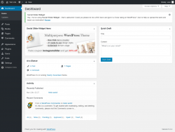 Page screenshot: Dashboard ‹ Test site — WordPress