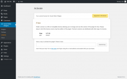 Page screenshot: Social Slider Widgets → License