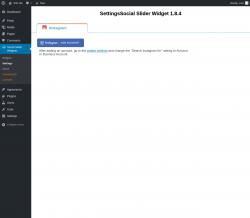 Page screenshot: Social Slider Widgets → Settings