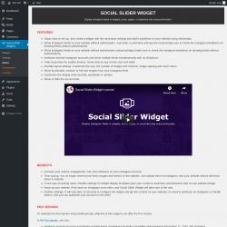 Page screenshot: Social Slider Widgets → About