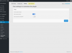 Page screenshot: Posts Footer Manager ‹ Test site — WordPress