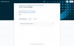 Page screenshot: Settings → Posts Footer Manager → FAQ & Docs