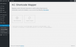 Page screenshot: KingComposer → Shortcode Mapper