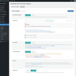 Page screenshot: LiteSpeed Cache → General