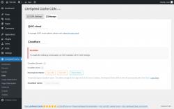 Page screenshot: LiteSpeed Cache → CDN → Manage