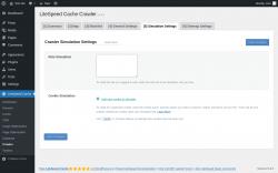 Page screenshot: LiteSpeed Cache → Crawler → Simulation Settings