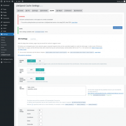 Page screenshot: Settings → LiteSpeed Cache → ESI