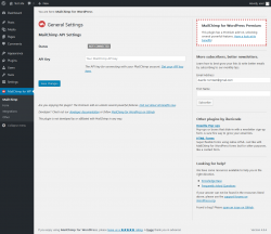Page screenshot: MailChimp for WP