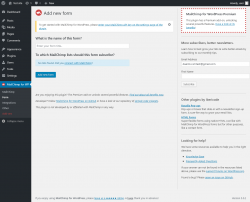 Page screenshot: MailChimp for WP → Form