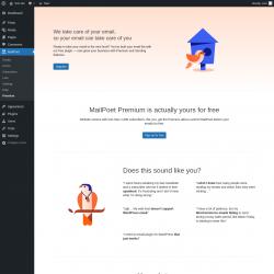Page screenshot: MailPoet → Premium