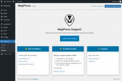 Page screenshot: MapPress → Support