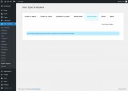 Page screenshot: M.E. Calendar → Import / Export → Synchronization