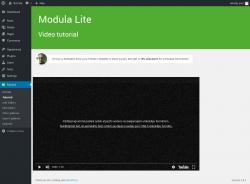 Page screenshot: Modula → Tutorial