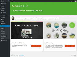 Page screenshot: Modula → Other galleries