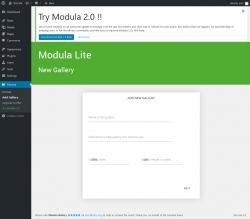Page screenshot: Modula → Add Gallery