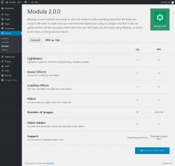 Page screenshot: Modula → Modula → PRO vs. Lite